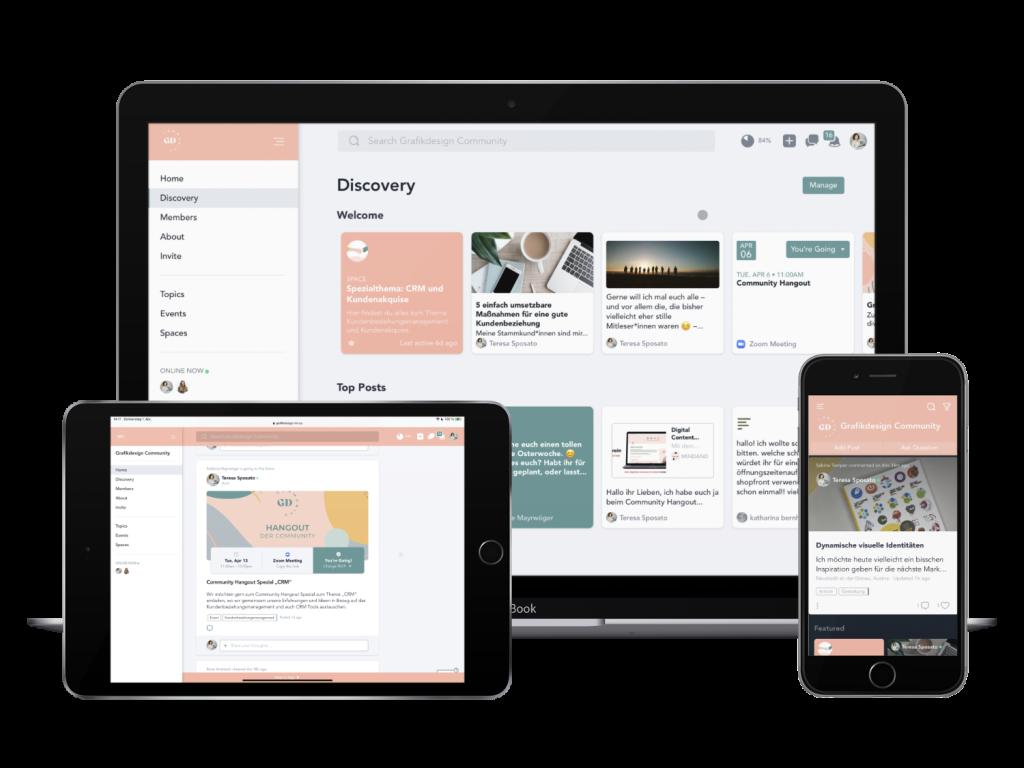 Grafikdesign Community Digitale Plattform